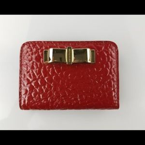 Burberry Red Small Wallet